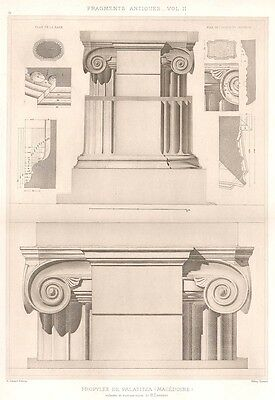 19 ~ MACDEDONIA PALACE Greece IONIC COLUMNS ~ 1905 Greek Architecture Art Print