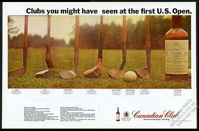 1966 golf club 1895 history photo Canadian Club whisky vintage print ad