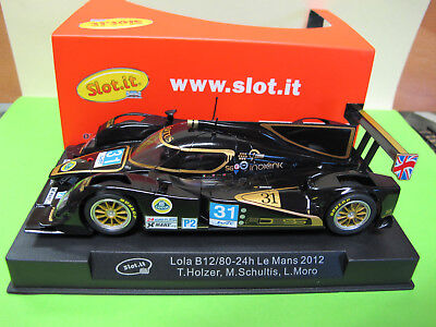 "Slot.it  Lola B12/80  #31  "" 24h  Le Mans 2012 ""   Ref.  CA39a"