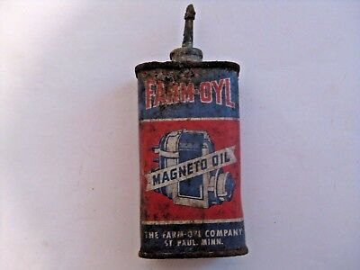 Vintage Farm - Oyl Magneto Oil Advertising Oil Can ~ Estate Barn Find Very Old ~