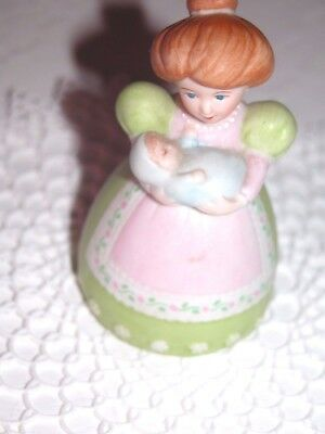 Adorable Retro 1988 Avon  Young New Mother & Baby Porcelain Bell