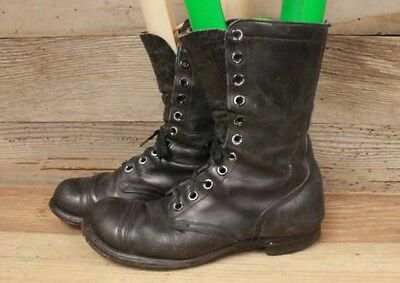 Military Issue Vintage Captoe Leather Jump Field Boots Sz 9R