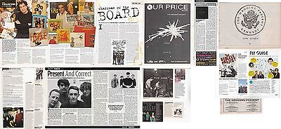 THE WEDDING PRESENT : CUTTINGS COLLECTION -interviews adverts-