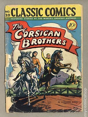 Classics Illustrated 020 The Corsican Brothers 1A 1944 PR 0.5