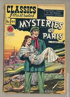 Classics Illustrated 044 Mysteries of Paris 1A 1947 GD- 1.8