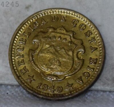 "1940 Costa Rica 5 Centimes ""BU"" *Free S/H After 1st Item*"