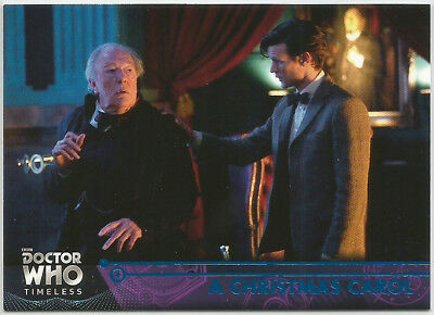 Doctor Who Timeless ~ BLUE PARALLEL Base Card #76 A Christmas Carol (#90/99)