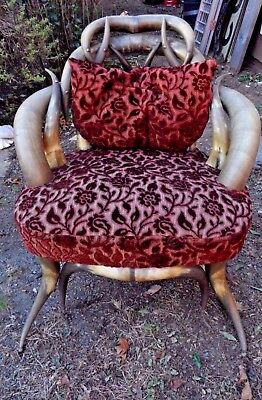 ANTIQUE HORN CHAIR BY WENZEL FRIEDRICH OF TEXAS Ca.1880