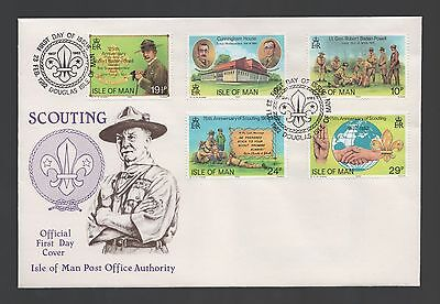 Isle of Man 1982 FDC 75th Anniv of Scouting & 125th Birth Anniv of Baden-Powell
