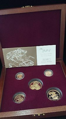 United Kingdom 2004 Gold Proof Deluxe Sovereign Collection Serial Number 025