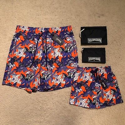 Vilebrequin Father And Son Forest Paradise Swim Shorts Size XXXL/6Y RRP: £290.00
