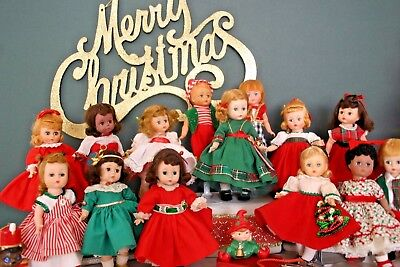 Vintage Madame Alexander Kins Cissette Dolls  'christmas Pageant' Creation