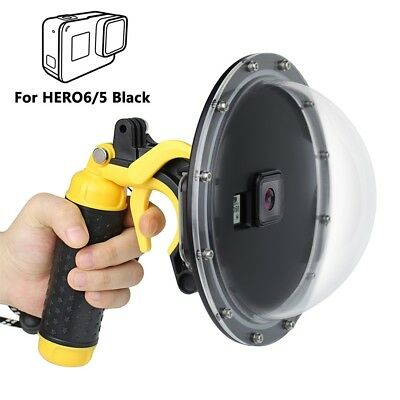 Waterproof Dome Port Camera Diving Lens Cover w/ Trigger Grip for GoPro Hero 5 6