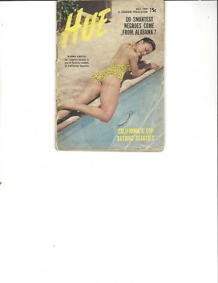Hue Magazine Jul 1959 Jeanna Limyou cover; Smartest Negroes Come from Alabama?