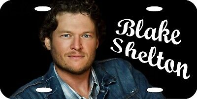 Blake Shelton Color Photo Country Music License Plate 12x6 ALUMINUM MADE IN USA