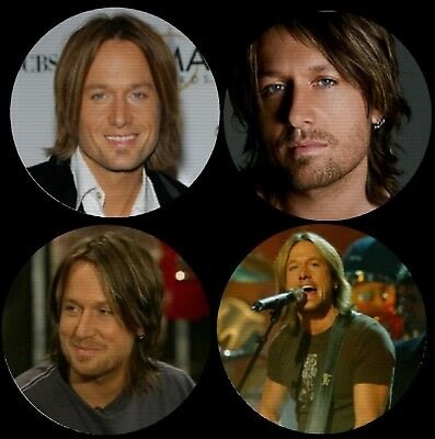 Keith Urban Color Photo Drink Coasters Polyester Top Rubber Bottom Set of 4