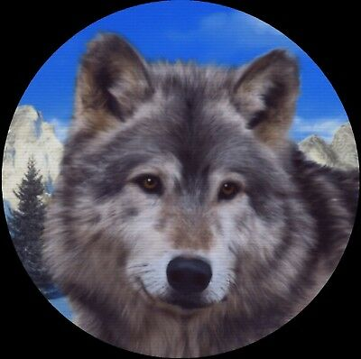 Wolf Wolves Howling Wild Drink Coasters Polyester Top Rubber Bottom Setof4 NEW