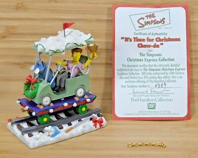SIMPSONS Christmas Express Train IT'S TIME FOR CHRISTMAS CHOW-DA #38 Figurine