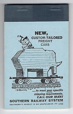 Vintage 1963 SOUTHERN RAILWAY SYSTEM Note Pad Railroad Train