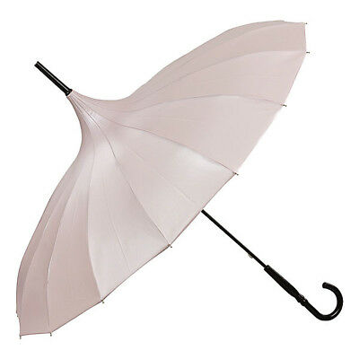 Von Lilienfeld Cecile Pagoda Umbrella - Metallic Frosted Pink