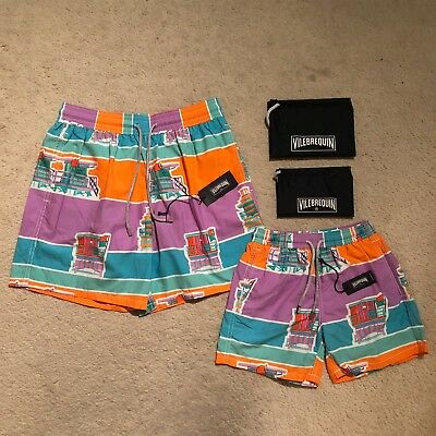 Vilebrequin Father And Son Lifeguard Tower Swim Shorts Size XXL/12Y RRP £275.00