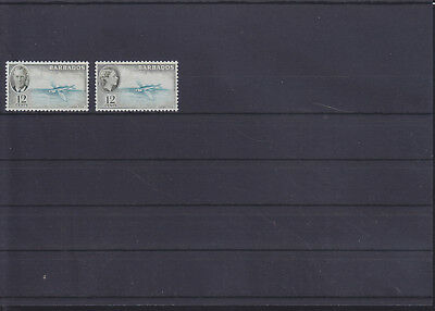 055987 Fische Fish Barbados 190 + 210 ** MNH Year 1950 + 1953