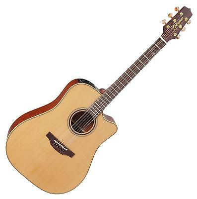Wunderbare Takamine Dreadnought Westerngitarre mit Tonabnehmer in Natural Satin