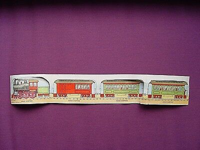 Antique Advertising Trade Card Mclaughlin's Coffee Train Cars Linked