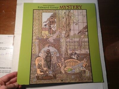 Edward Gorey MYSTERY, 2007 Wall Calendar (12 in.x 13 in.) Unused, VG Condition