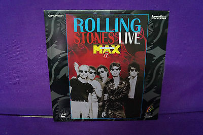 """LaserDisc Rolling Stones Live """" At The Max """""""