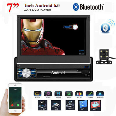"Single 1 Din 7"" Android 6.0 In Dash Car Stereo GPS NAV Radio 1080P Video Player"