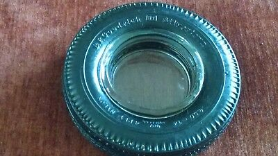 Vintage Goodrich Tire Ashtray Silvertown with Glass Insert
