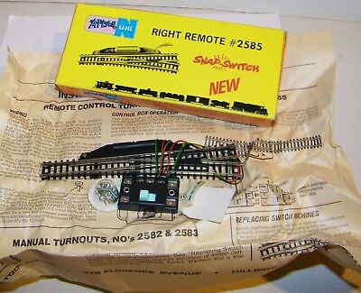 Vintage Atlas N Gauge Train Right Remote Control Snap Switch Turnout NEW in Box