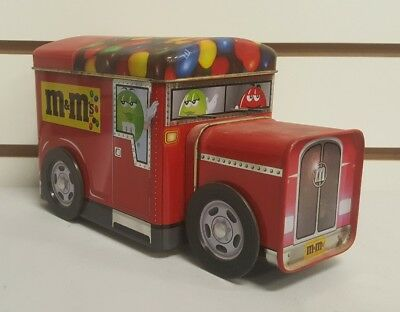 M&M's  Car Advertising Tin Vintage Collectible Retro Truck or Car Container
