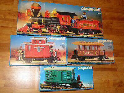 Playmobil 4054 Steam Mary Westernlok mit Tender + 3 Waggons 4101 + 4120 + 4123