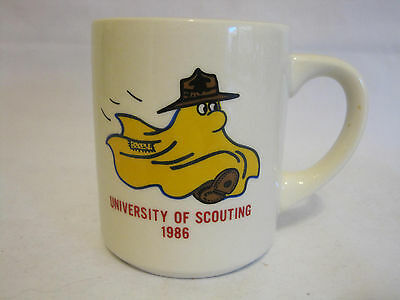 Vintage University of Scouting Coffee Mug 1986 Collectible Memorabilia
