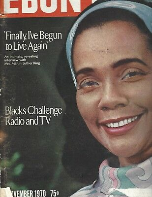 Ebony Magazine Nov 1970 Coretta Scott King cover