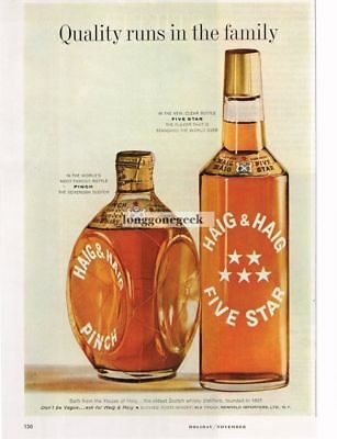 1959 HAIG & HAIG Five Star and Pinch Scotch Whiskey Vtg Print Ad