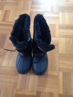 Mountain Warehouse Ladies Black Fur Trimmed Boots Size 2