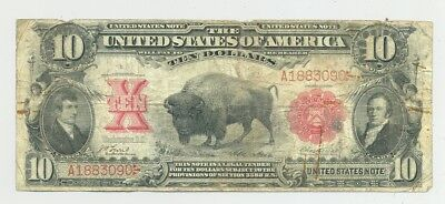 $10 1901 Bison United States Note a very popular type nice looking/bright colors