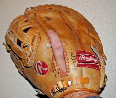 Mark Mcgwire Baseball Signature Glove Rawlings Model Rfm9 Vg Cond 1St Base Left