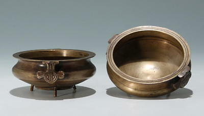 A Pair of Asian Bronze Dishes / Censors          #as139
