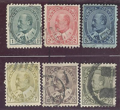 Canada Stamps Scott # 89-94 used (6 stamps)