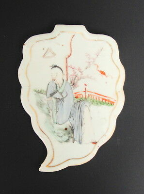 Antique Chinese Painting on Porcelain Tile