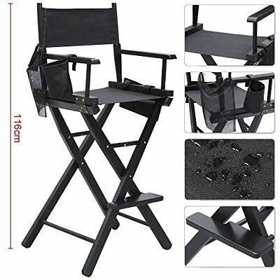 Professional Makeup Chair With Beauty Side Bags Folding High Stool Heavy Duty
