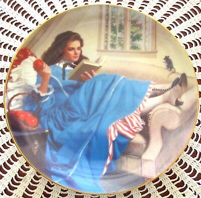 Jo The Little Women Collection Plate From Danbury Mint By Elaine Gignilliat