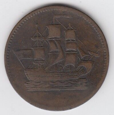 Ships Colonies & Commerce Token Pei Half Penny Coin Coinage