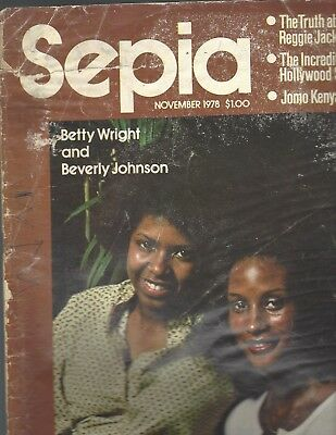 Sepia Magazine Nov 1978 Singer Betty Wright and top model Beverly Johnson