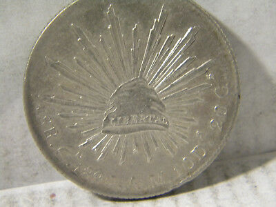 1 mexican coin 8 reales 1890 A.M culiacan .903 silver