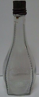 Antique Vtg 1889 1910 HJ Heinz Ketchup Blown Clear Long Neck Glass Bottle & LID